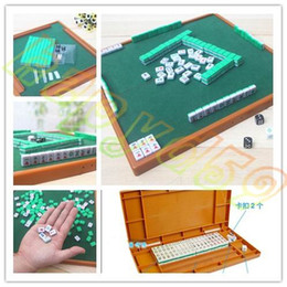 new Small Travel Mahjong set Mini Mahjong portable Mahjiang tiles with table traditional chinese family Board Game