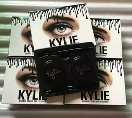 Wholesale 2016 New Arrival Kylie Jenner Eyebrow Cream Waterproof Makeup Eyeshadow Cosmetics Make Up Double Color Gel Eyeliner Black Brown