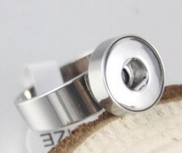 noosa ring fit 12mm 18mm charm snap button ring NOOSA chunks snap button jewelry size 7 8 9 10 Stainless steel ring fit diy handmade charm