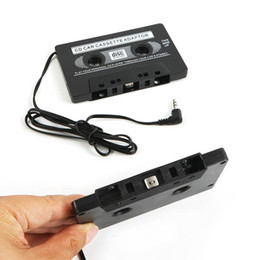 Wholesale NEW AUDIO CAR CASSETTE TAPE ADAPTER CONVERTER MM FOR IPHONE IPOD MP3 AUX CD