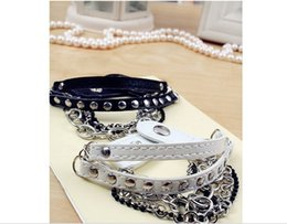 fashion new Design multilayer Leather Charm Bracelet Bangle Punk Rock Hiphop Amulet Fashion Jewelry 5 pcs
