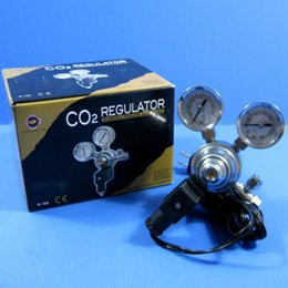 Wholesale AC110 V UP A Aquarium Fish Tank CO2 Regulator Adjustable Pressure Solenoid Magnetic Valve Marine and Planted CO2 System Regulators