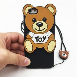 Cute Bear Cell Phone Cases Lovely Cartoon Rilakkuma Toy Phone Covers for iphone 7 7plus 6s 5s 42