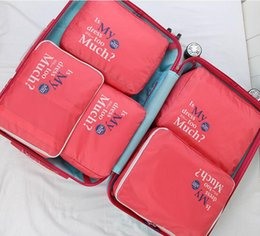 FREE SHIPPING TRAVEL PACKING CUBES SET - 5 Luggage Organizers Laundry Bag Luggage Compression Pouches Wholesale travel accessories nylon bag