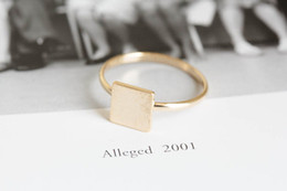 2016 geometric female male jewelry simple ring delicate antique accessories wholesale square ring gold silver rose gold package mail holiday