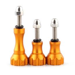 Jeu de bouton à vis en Ligne-En alliage d'aluminium Thumb Bouton Boulon Ecrou Set Vis pour Gopro Hero 1 2 3 3+ Or
