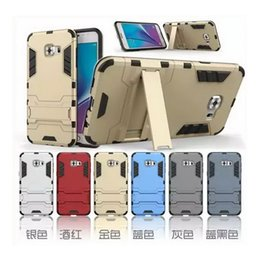 Wholesale Iron Man Hybrid in Armor Defender PC TPU Case Robot Shockproof Phone Back Cover for Samsung Galaxy S5 S6 S7 Edge Note5 Kickstand Holder