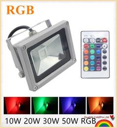 YON RGB LED Flood Light 10W 20W 30W 50W Foco LED Exterior Spotlight IP65 LED Outdoor Light Reflector Spot Floodlight Remote Control