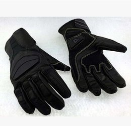 Fashion Glove real Leather Full Finger Black moto men Motorcycle Gloves Motorcycle Protective Gears Motocross Glove