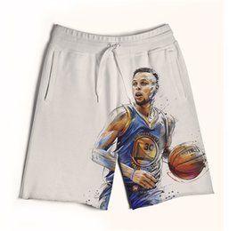 Wholesale Real USA size Steph Curry with the Shot D Sublimation print custom made men fifth seventh legnth shorts with string Plus Size
