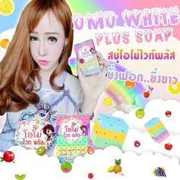 New Arrivals OMO White Plus Soap fruitamin soap Mix Color Plus Five Bleached White Skin 100% Gluta Rainbow Soap free shipping