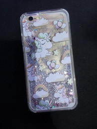 1PC For iPhone 6 6S Plus SE 5 5S Quicksand Liquid Unicorn Horse Phone Case Cat Dolphin Dynamic Hard Plastic Cover Flowing Bling Glitter Capa
