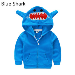 Wholesale 3016 New Baby Boys Girls Shark Hoodies Coats Cartoon Kids Embroidery Fleece Fox Tiger Cardigan Outwear Children Rabbit Autumn Jacket