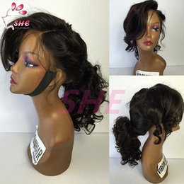 Full Density Full Lace Wig With Bangs Human Hair Lace Front Wig 7A Brazilian Glueless full lace wigs For Black Women