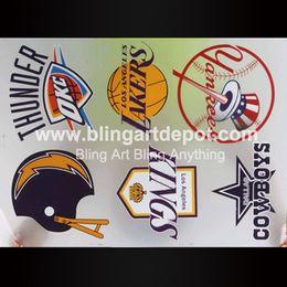 Wholesale Team Iron Ons Basketball Baseball Football Hotfix Plastisol Heat Transfers For Sport Wears Custom Design Available