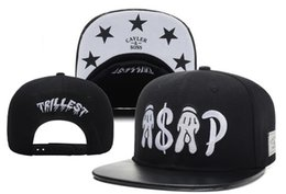 Wholesale New styles Cayler Sons trillest ASAP snapback hats men and women in black white with leather brim adjustable caps fashion