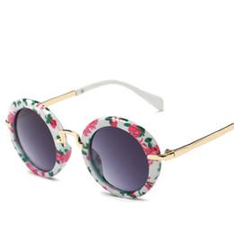 Wholesale Fashion Round Kids Sunglasses Children Sun Glasses Anti uv Baby Vintage Eyeglasses Outdoor Cool Color oculos de sol S