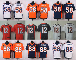 Wholesale 2016 Elite Mens Jerseys Von Miller Bell Paxton Lynch Demaryius Thomas Home Stitched Jerseys Free Drop Shipping