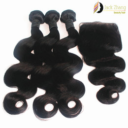100% Vietnamese Hair Bundles 3Pcs Same Length Hair Weave With 1pc Closure Body Wave Natural Color 10-28inch 8A Human Hair Weft Extension