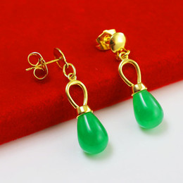 MS 24K mixed Jinxiangyu jewelry gold earrings earrings 999 gold-plated pendant retro jewelry gift mom