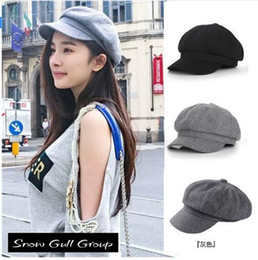 Wholesale Super warm High Quality Fashion Artist Wool Women Beret Hat For Women Cap Female Cap Casual Dome Bare Chapeu Feminino Boina