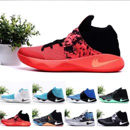 Wholesale Newairl Mens Kyrie Irving II Easer Basketball Shoes bright crimson tie all star Sport sneakers original Retru effect for sale us7