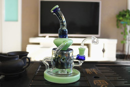 2018 New Good Filtration Real Images Glass Bongs Water Pipes percolator dab Recycler Oil Rigs Glass Bong With Perc