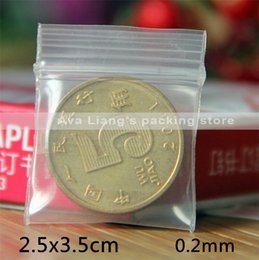 2.5x3.5cm 0.2mm 1000pcs small size Self Sealing Zip Lock Bags  jewelry pouches  Plastic Packaging bags