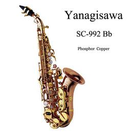 Wholesale Yanagisawa Gold Lacquer SAX Bb saxophone soprano Phosphor Copper professional sax mouthpiece brass instruments SC