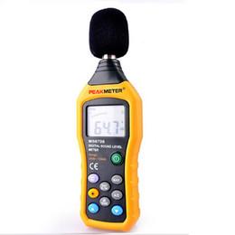 Wholesale PEAKMETER MS6708 LCD Digital Audio Decibel Sound Noise Level Meter dB Meter Measuring Logger Tester dB to dB