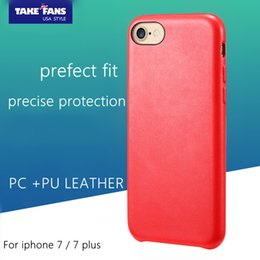 Wholesale For iPhone plus Original TAKE FANS Origin Series Business Casual Phone Back Shell Protector PC PU Leather Soft Protection Case