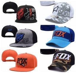 Wholesale FOX Cap Baseball Street Hats Snapback Sport Casquette Hip Hop Ball Panel Casual Cool Gorras Summer Headwear Strapback More Colors
