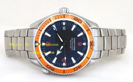 Mens Black Dial Top quality Wristwatch Planet Ocean 42mm Orange Bezel 2209.50.00 Luxury Automatic Men's Watches Wrist Mens Watch