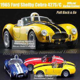 1:36 Scale Diecast Alloy Metal Classic Car Model For 1965 Ford Shelby Cobra 427S C Collectible Model Collection Toys Car