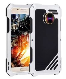Wholesale Samsung Galaxy S7 Waterproof defender case Metal cover with Camera Lens for iphone s plus Samsung Galaxy S7 edge Opp Bag