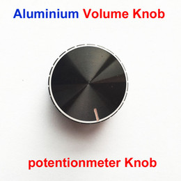 Wholesale new Black Volume Potentiometer knobs aluminum alloy knob diameter mm mm mm inner dia laciness knob