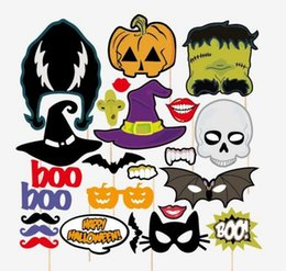 Wholesale Halloween props holiday season pictures props BOO pumpkin essence Batman horror skull room decorations mask
