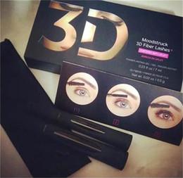 Wholesale 2016 hot seller New Moodstruck version D Fiber Lashes Waterproof Double Mascara D FIBER LASHES Set Makeup Eyelash set