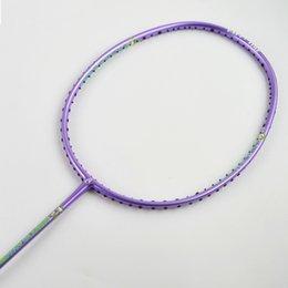 Wholesale 2016 Sport dexterous Badminton Rackets kids purple High Quality Durable Badminton Racket Racquet Carbon Fiber Badminton Racket Own brand