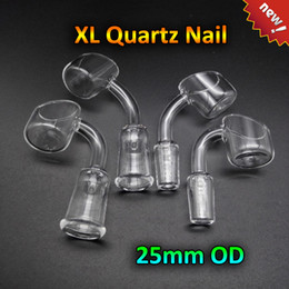 Wholesale 2016 New XL Quartz Banger Quartz Nail With mm Thick mmOD mm mm mm Joint Degrees Domeless Quartz Bangers Nails