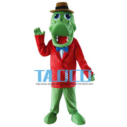 Green Alligator Crocodile Mascot Costume Fancy Dress Prop Set Halloween