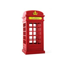 Wholesale Retro Antique London Telephone Booth Designed USB Charging LED Desk Night Lamp Touch Adjustable