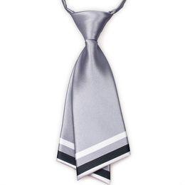 Wholesale Silver Women Fashion Necktie Crew Cut Cravat Ties Service Neckwear Accessories Can choose color