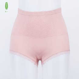 GUIYI Women High Waist Panties Lace Solid Abdomen Female Seamless Underwear Breathable Briefs Culotte Woman Panties Thin Slimming Body