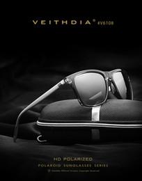 Descuento lentes polarizadas VEITHDIA Retro Aluminium TR90 Gafas de Sol Lente Polarizada Hombre Lentes Hombre Accesorios Driving Gafas de Sol Goggle Deportes