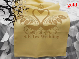 Gold Color New Design Poly Plain Table Runner For Wedding Decoration No Shiny