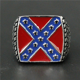 1pc New Arrival USA Style Stars Ring 316L Stainless Steel Man Boy Fashion Personal Design USA Flag Cool Ring