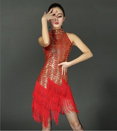 Wholesale Sequin Paisley Great Gatsby Flapper Dance Girl Tassel Glam Party Dress Costume Pattern Style Fashion Clothing