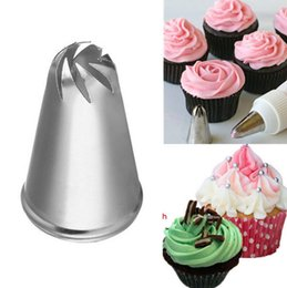 Wholesale Stainless Steel DIY Flower Spiral Icing Piping Nozzle Tips Fondant Sugar Craft Decorating Tool