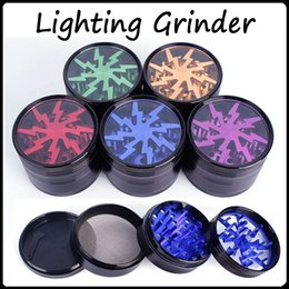 Wholesale TOP Quality Herb Grinders mm Aluminium Alloy Crusher Grinders Clear Top Window Lighting Grinder Pieces Grinder VS Sharpstone Grinders